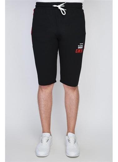 Rodi Jeans Erkek Ex Company Yan Ince Bantlı Şort Ty21Ye140163 Siyah